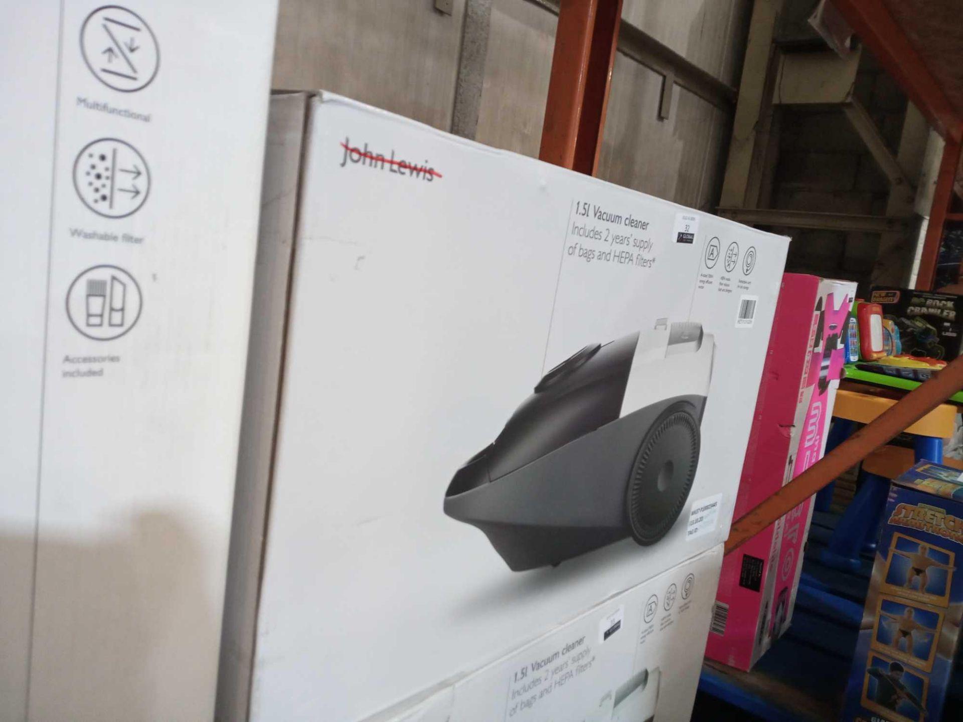 Lot 33 - RRP £60 Boxed John Lewis 1.5L Vacuum Cleaner