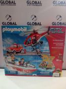 RRP £70 Boxed Playmobil City Action Fire Rescue Mission