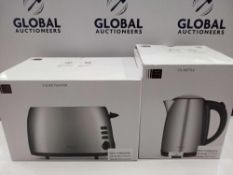 RRP £60 Each Kitchen Items To Include John Lewis 1.7 Litre Kettle And John Lewis 2 Slice Toaster Mat