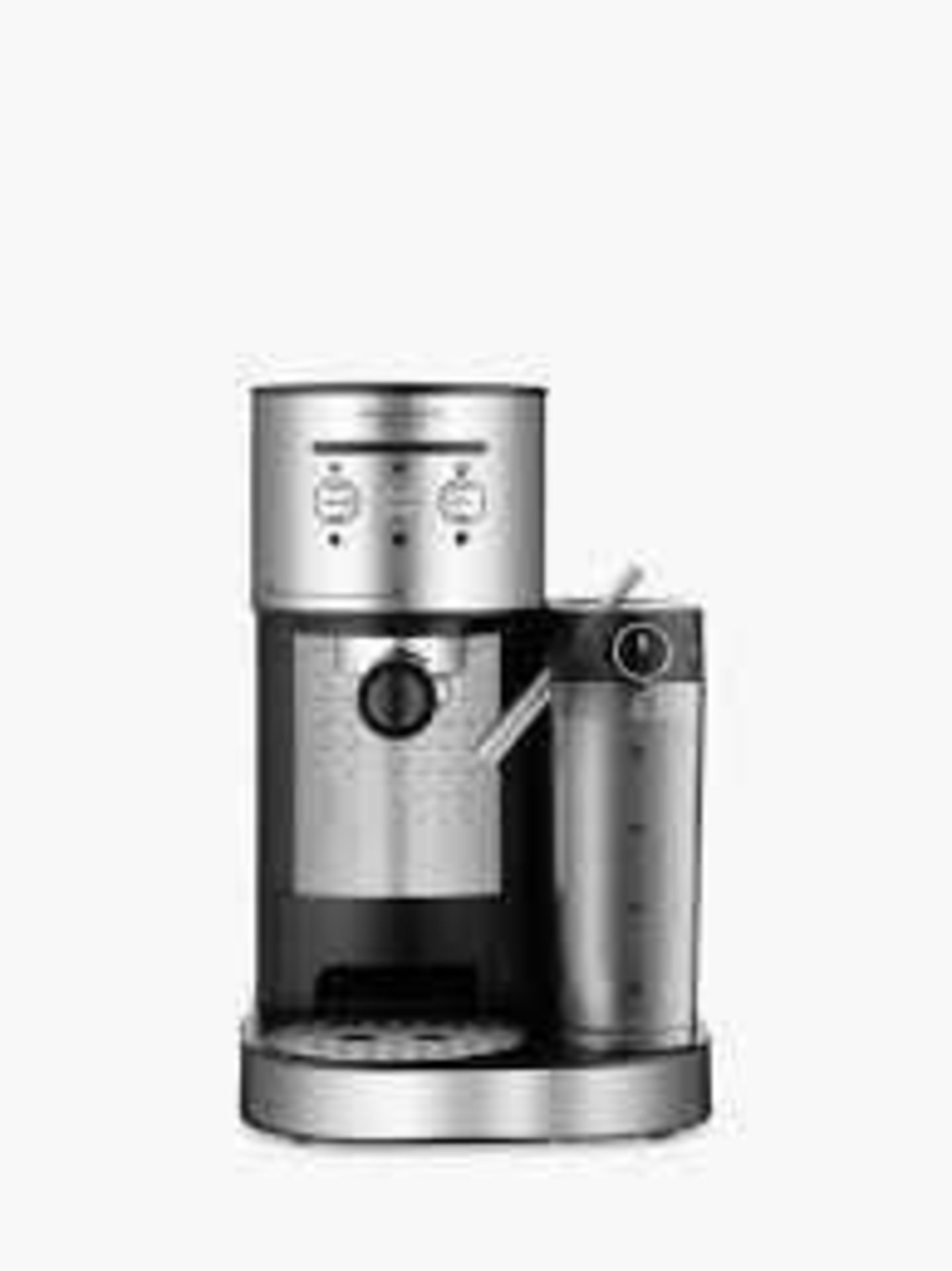 Lot 130 - RRP £100 Boxed John Lewis Pump Espresso Coffee Machine With Integrated Milk System