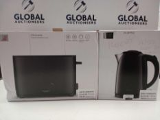 RRP £85 Each John Lewis 1.7L Kettle And 2-Slice Toaster Matching