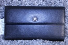 RRP £750 Chanel Logo Flap Wallet. Black Calf Small Grained Leather. 20X11X5.2Cm Comes Complete
