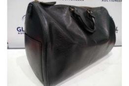 RRP £1200 Louis Vuitton Speedy 40 Black Calf Leather Epi Golden Brass Hardware Handbag (Condition