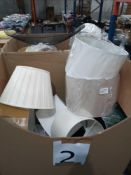 Pallet To Contain Approximately 55 Assorted High End Designer Lamp Shades