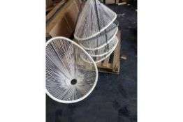 Pallet To Contain 7 Miami Style Garden String Chairs (No Legs)(Appraisals Available Upon Request) (