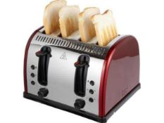 Combined RRP £90 Assorted Kitchen Items To Include Unboxed Morphy Richards 2 Slice Black Toaster And