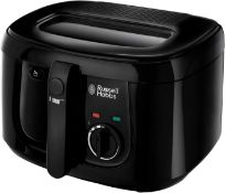Combined RRP £100 Lot To Contain 3 Russell Hobbs Food Collection Deep Fryers In Black With 2.5L Capa