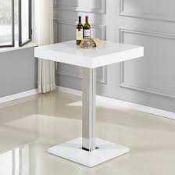 RRP £300 Boxed Furniture In Fashion Topaz White High Gloss Bar Table