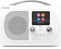 RRP £150 Boxed Pure Evoke H4 Prestige Portable Digital And Fm Radio With Bluetooth