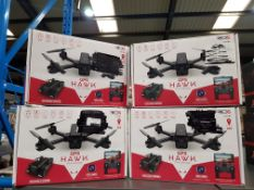 4 X RED5 GPS HAWK FPV DRONE