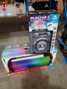 2 ITEMS – 1 X IDANCE BLASTER 5 PARTY BLUETOOTH BOX SYSTEM & 1 X IDANCE CYCLONE 1000X PARTY BLUETOOTH