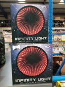 9 X RED5 INFINITY LIGHT OPTICAL ILLUSION MIRROR LIGHT