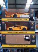 6 X MZ LAMBORGHINI AVENTADOR COUPE R/C CAR