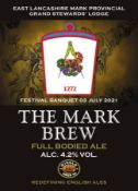 "A case of ""Mark Brew"" a tasty traditional ale brewed with care at Wincle Brewery."