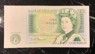 "Bank of England £1 note – Be ""As soon as a pound"" with this original Bank of England One Pound"