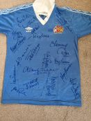 Signed 1981-1982 Manchester City SHirt