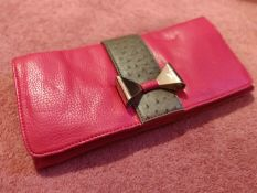 Ladies red leather clutch bag, from ASOS. Hardly used.