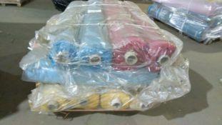 1 X Pallet Of Swoon Easy Velvet In 11 Custom Textile Suspension Boxes Of Velvet With Appx Total