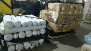 1 X Pallet Of Swoon Easy Velvet On 13 Rolls All Approx 32 Metres - Selection Of Colours As Seen -