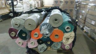 1 X Pallet Of Swoon Textile To Contain 35 Rolls Of Linnen / Cotton Textile - Approx 1100 Metres In