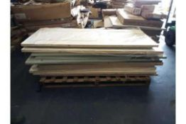 RRP £1700 Pallet To Contain 15 Assorted Designer Mdf Panneled Single Doors As Seen On The