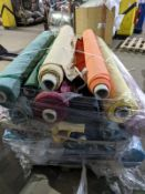 1 X Pallet Of Swoon Easy Velvet In 15 Custom Textile Suspension Boxes Of Velvet With Appx Total
