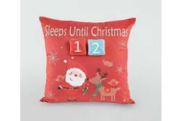 RRP £85 Box To Contain 12 Brand New Festive Count Down Cushions