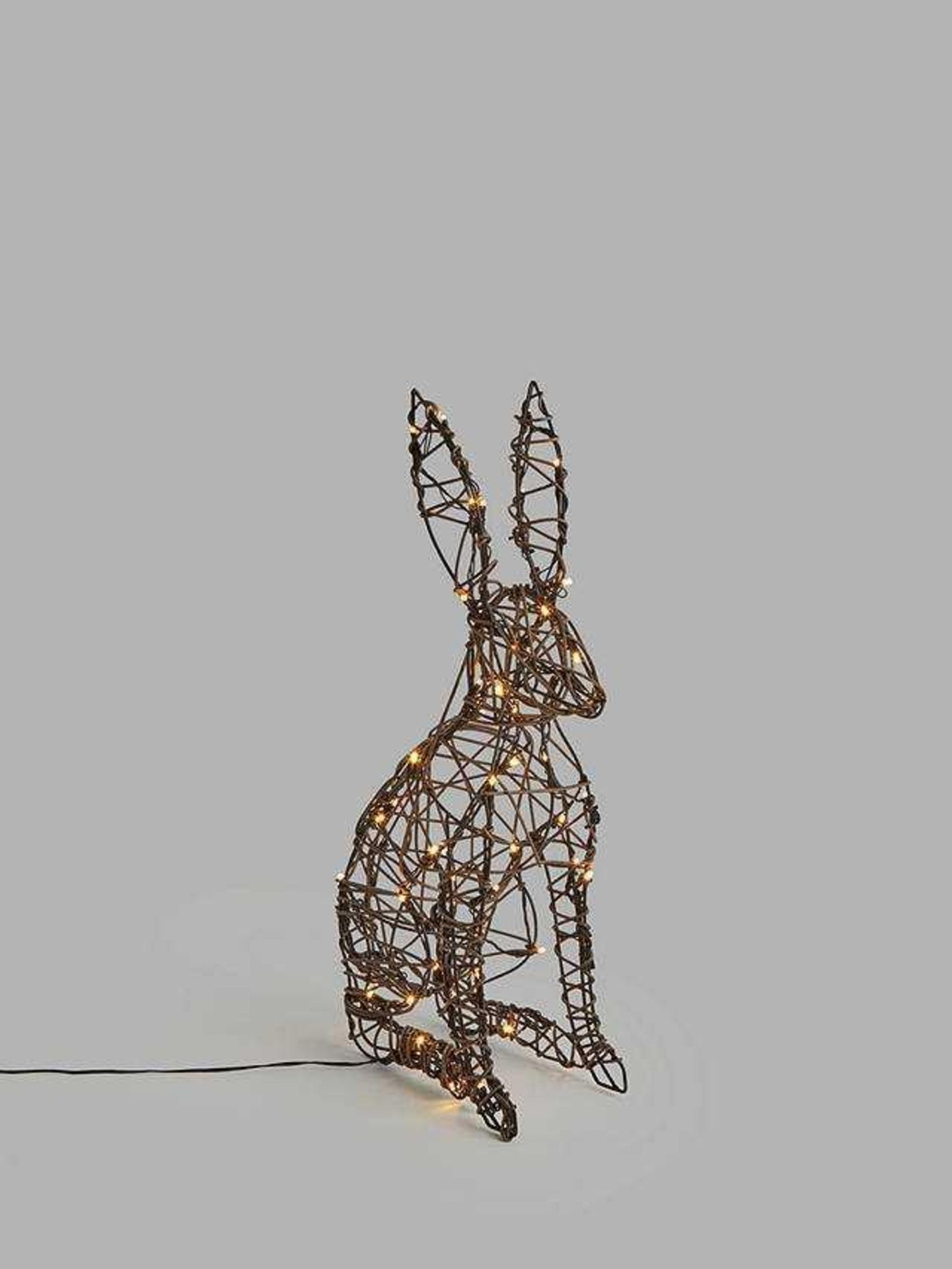 RRP £50 Boxed John Lewis Indoor And Outdoor 60Cm Hare With Timer