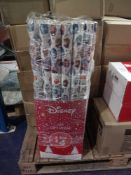 RRP £42 Lot To Contain 42 Rolls Of Disney Frozen 4M Gift Wrap