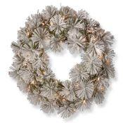 RRP £30 Lot To Contain Snowy Bristle 61Cm Lighted Pine Wreath