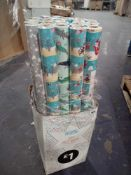 RRP £25 Box To Contain 25 Assorted Rolls Of Christmas 12M Gift Wrap