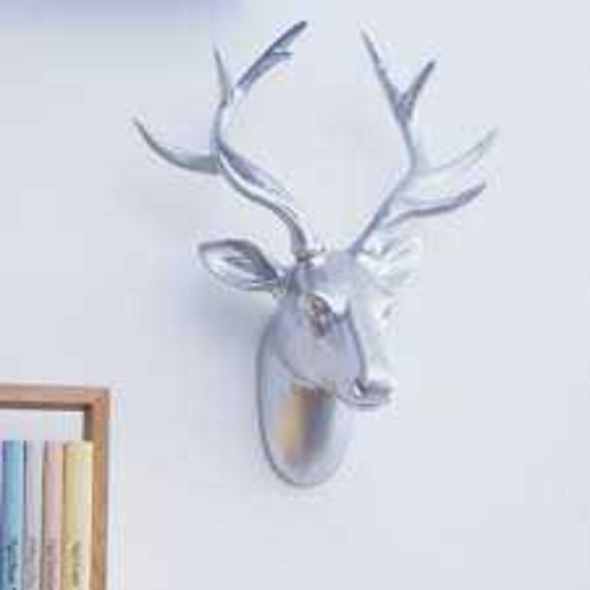 RRP £50 Boxed Walplus Silver Deer Head Wall Hanger