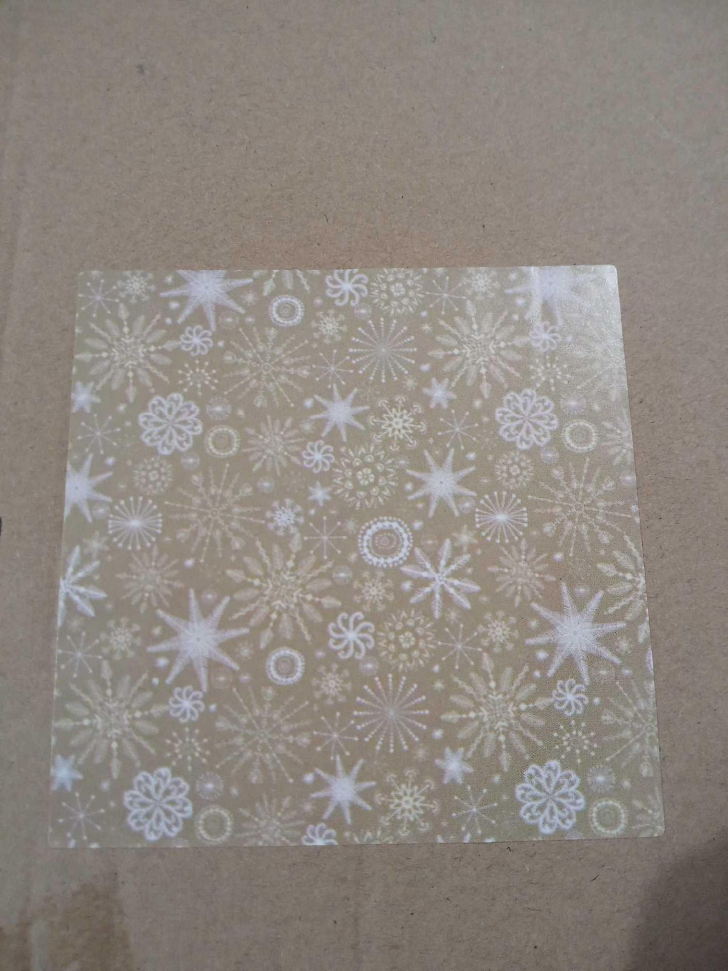 RRP £36 Box To Contain 36 Rolls Of Snow Flake Gold Roll Wrap