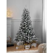RRP £50 Boxed George Home 6Ft Pre Lit Snowy Pine Tree