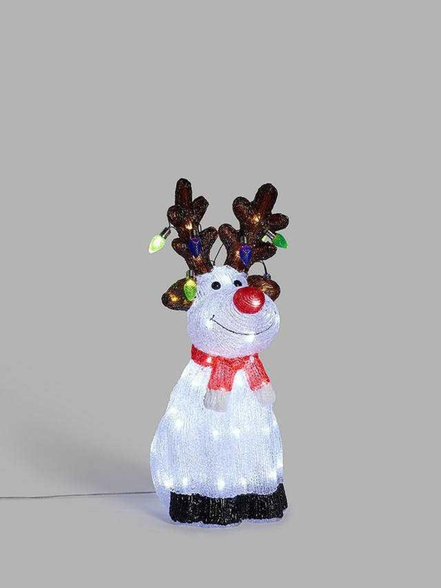 RRP £50 Boxed John Lewis Indoor And Outdoor 53Cm Reindeer With Timer