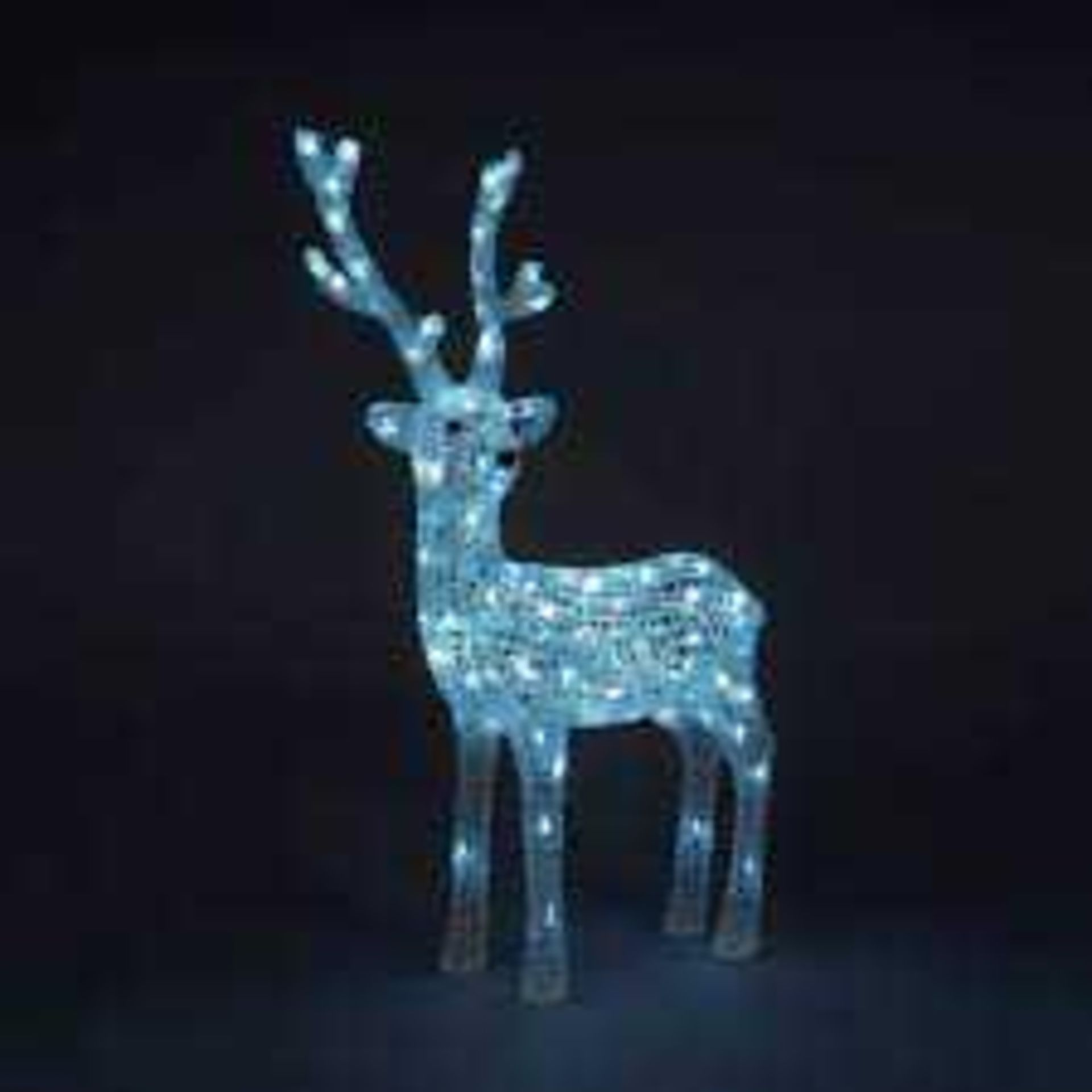 RRP £95 Boxed Indoor/Outdoor Reindeer With Ice White Led Lights