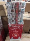 RRP £36 Lot To Contain 36 Rolls Of Disney Frozen 4M Gift Wrap