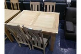 RRP 1800 Sourced From A High End Furniture Store Stripe Wood Oak 4 Seater Dining Table With Chairs