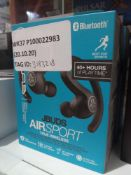 RRP 70 Boxed Jlab Earbuds Air Sport True Wireless Earphones (3180162) (Appraisals Available Upon
