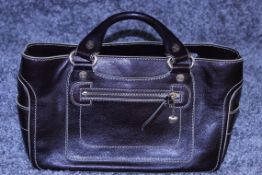 RRP £1,000 Celine Boogie Handbag, Brown Calf Small Grained Leather, Leather Handles, 22X30X13Cm (