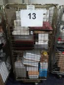 Cage To Contain A Large Assortment Of Items To Include Sets Of Debenhams Glasses, Gin Glasses,