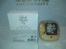 RRP £50 Boxed Brand New Full Tester Bottle Of Lady Million Paco Rabanne 80Ml Eau De Toilette