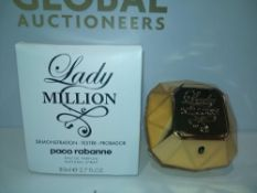 RRP £80 Boxed Brand New Full Tester Bottle Of Lady Million Paco Rabanne 80Ml Eau De Parfum