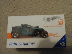 RRP £275 Lot To Contain 40 Boxed Brand New Hot Wheels Id Bone Shaker Track Cars