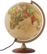 RRP £90 Unboxed Cuban Reba World Atlas Illuminating Globe