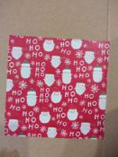 RRP £36 Box To Contain 36 Rolls Of 4M Santa Ho Ho Roll Wrap (Appraisal Available Upon Request) (