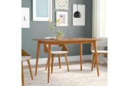 RRP £270 Boxed Brayden Studio Goodyear Mid Century Solid Wooden Dining Table (20013) (Appraisals