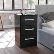 RRP £105 Boxed Riley Ave Macy 3 Drawer Bedside Table (17833) (Appraisals Available On Request) (