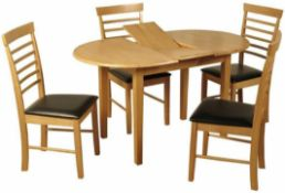 RRP £230 Boxed Three Posts Ansaran Light Oak Butterfly Table (20132)(Chair's Not Included) (