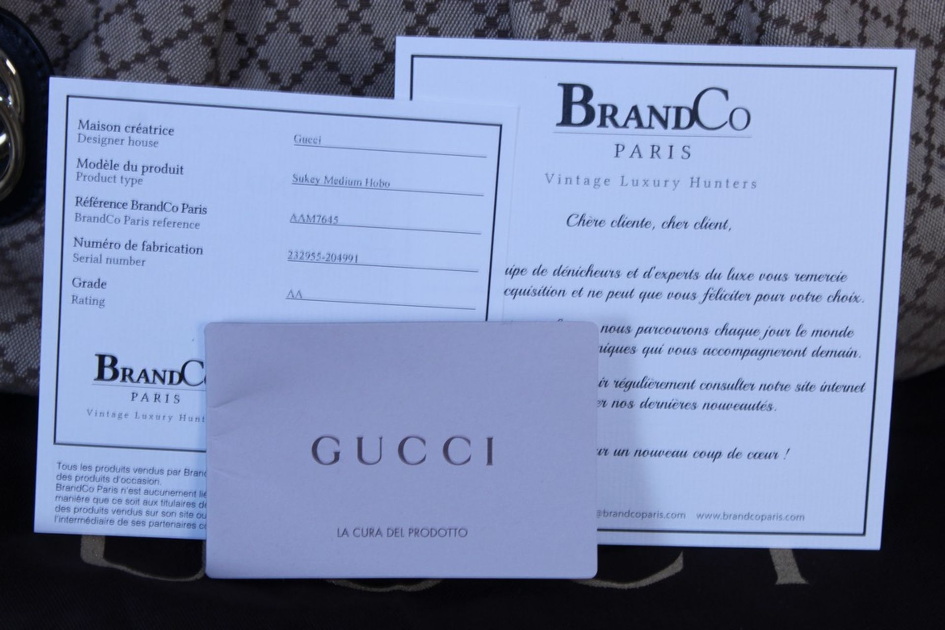 RRP £1,500 Gucci Sukey Medium Shoulder Bag, Beige/Black Diamante Canvas, 37.5X26X10Cm (Production - Image 4 of 4